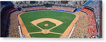 Aerial View Of A Stadium, Dodger Canvas Print