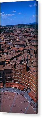 Aerial View Of A Town Square In A City Canvas Print by Panoramic Images