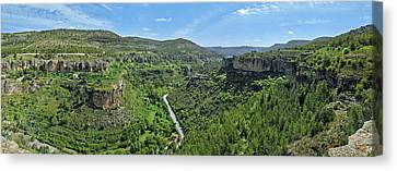 Aerial View Of A Valley, Rincon Seco Canvas Print