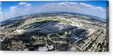 Aerial View Of An Airport, Midway Canvas Print