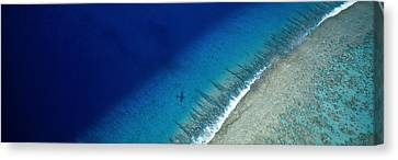 Aerial View Of Beach, Tetiaroa Island Canvas Print by Panoramic Images