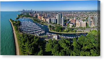 Aerial View Of Belmont Harbor Canvas Print
