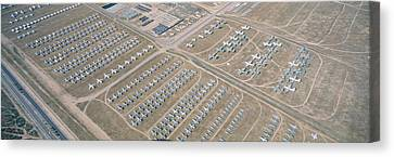Aerial View Of Bone Yard, F4 Fighter Canvas Print