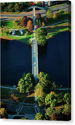 Boston Bridges Canvas Print - Aerial View Of Bridge Across Charles by Panoramic Images
