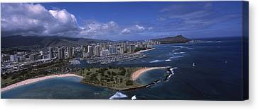 Aerial View Of Buildings Canvas Print by Panoramic Images