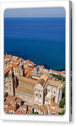 Aerial View Of Cefalu Canvas Print by Stefano Senise
