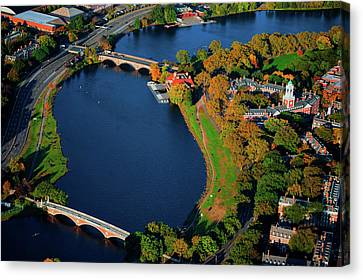 Boston Bridges Canvas Print - Aerial View Of Charles River With Views by Panoramic Images