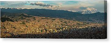 Aerial View Of City, El Alto, La Paz Canvas Print by Panoramic Images