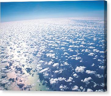 Aerial View Of Clouds And Sky Canvas Print