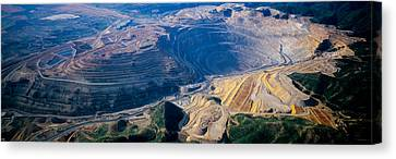 Aerial View Of Copper Mines, Utah, Usa Canvas Print