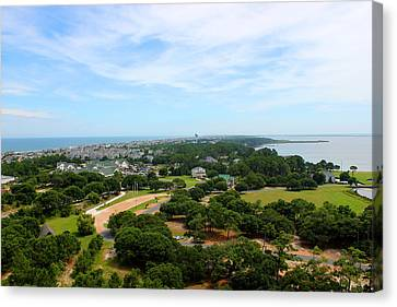 Aerial View Of Corolla North Carolina Outer Banks Obx Canvas Print by Design Turnpike