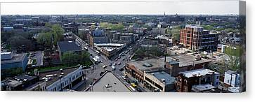 Aerial View Of Crossroad Of Six Canvas Print by Panoramic Images
