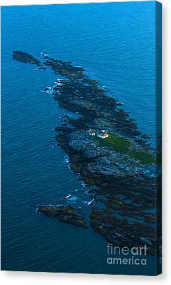 Aerial View Of Egg Rock Lighthouse Canvas Print by Diane Diederich