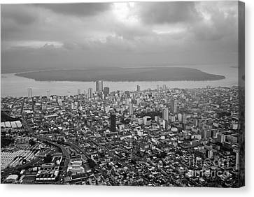 Aerial View Of Guayaquil City Canvas Print by Sami Sarkis