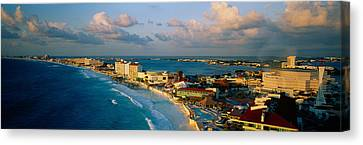 Aerial View Of Hotels And Resorts Canvas Print by Panoramic Images