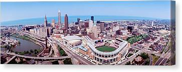 Aerial View Of Jacobs Field, Cleveland Canvas Print by Panoramic Images