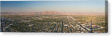 Aerial View Of Las Vegas Canvas Print by Panoramic Images