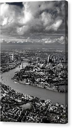Aerial View Of London 4 Canvas Print by Mark Rogan