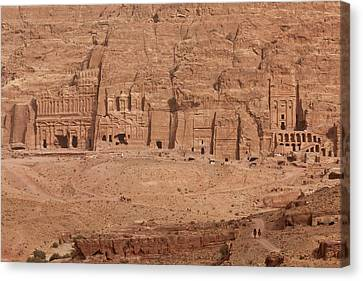 Nabatean Canvas Print - Aerial View Of Royal Tombs At Ancient by Panoramic Images