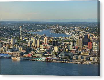 Aerial View Of Seattle, Washington Canvas Print by Stuart Westmorland