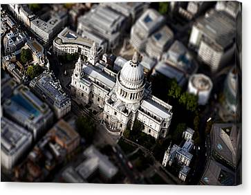 Aerial View Of St Pauls Cathedral Canvas Print by Mark Rogan