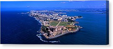 Aerial View Of The Morro Castle, San Canvas Print by Panoramic Images