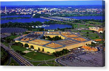 Aerial View Of The Pentagon At Dusk Canvas Print