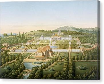 Aerial View Of The Villa Of King Canvas Print by German School