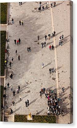 Aerial View Of Tourists Viewed Canvas Print by Panoramic Images