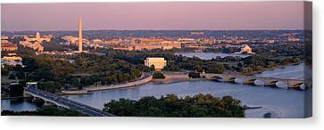 Aerial, Washington Dc, District Of Canvas Print by Panoramic Images