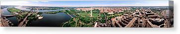 Aerial Washington Dc Usa Canvas Print by Panoramic Images