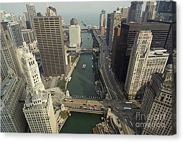 Aerial Chicago Skyscrapers Canvas Print by Linda Matlow