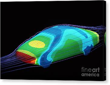 Aerodynamics In Car Design Canvas Print by Hank Moragn