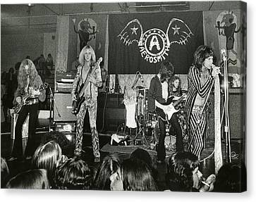 Aerosmith - Aerosmith Tour 1973 Canvas Print by Epic Rights