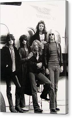 Aerosmith - Eurofest Jet 1977 Canvas Print by Epic Rights
