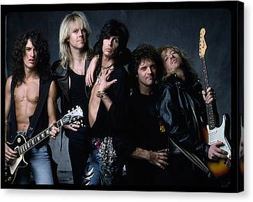 Aerosmith - Let The Music Do The Talking 1980s Canvas Print by Epic Rights