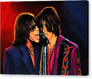 Aerosmith Toxic Twins Painting Canvas Print by Paul Meijering