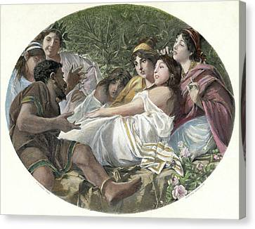 Aesop (620-560 B Canvas Print