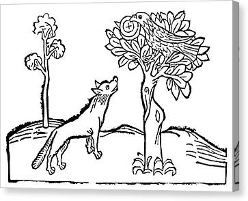 Aesop Fox And Crow Canvas Print