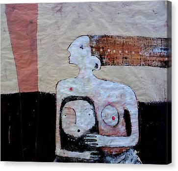 Primitive Nude Canvas Print - Aetas No 3 by Mark M  Mellon