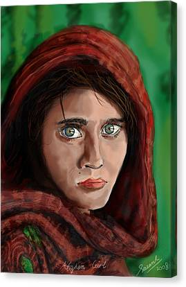 Afghan Girl Canvas Print by Sasank Gopinathan