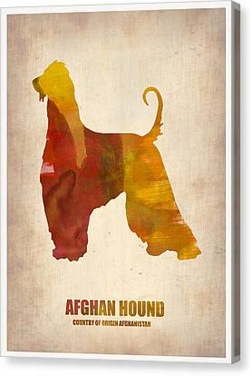 Afghan Hound Poster Canvas Print by Naxart Studio