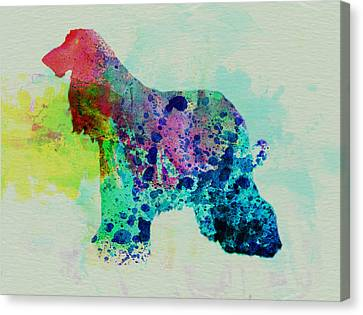 Afghan Hound Watercolor Canvas Print by Naxart Studio