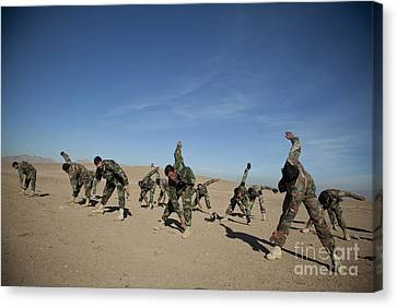 Afghan National Army Commandos Canvas Print by Stocktrek Images