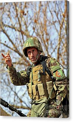 Afghan National Army Soldier Canvas Print by Stocktrek Images