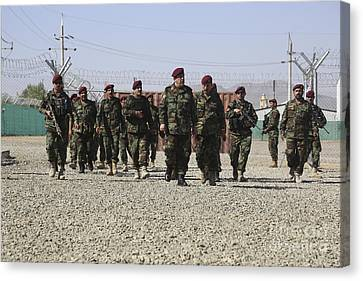 Afghan National Army Soldiers Canvas Print by Stocktrek Images