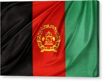 Afghanistan Flag Canvas Print by Les Cunliffe