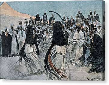 Africa 1901. The Dance Of The Sabre Canvas Print by Everett