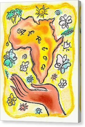 Sun Rays Canvas Print - Africa by Leon Zernitsky