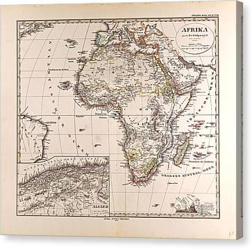 Africa Map 1874 Gotha Justus Perthes Atlas Canvas Print by English School